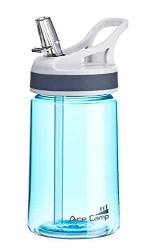 AceCamp TRITAN Trinkflasche | Wasserflasche auslaufsicher BPA-Frei | Sportflasche Trinkhalm I 350 ml I Blau I 15516