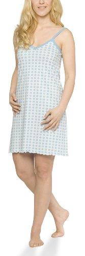 Moonline Damen Nachthemd mit Spaghetti-Trägern, Farbe:hell blau, Größe:36/38