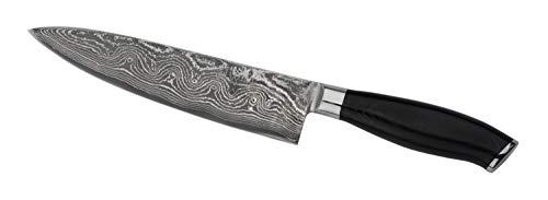 Wakoli Damastmesser Chefmesser Klinge 19,50 cm Länge - japanischer Damaststahl VG-10, mit Holzverpackung, Wakoli King Serie