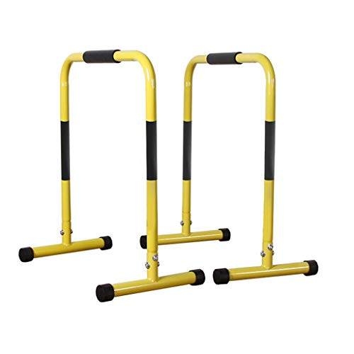 Jsmhh Fitness Multifunktionale horizontale Stange, Parallelstange, Trainingsgerät, Zuhause, Klimmzuggerät, Push-Up-Ständer, Sportgerät, Multi-Fitnessgeräte für Zuhause, gelb, 36x61x61cm