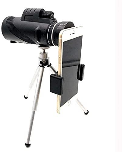 HTOUR Binoculares Telescopio BAK4 Compacto: monocular con Zoom de Alta Potencia, Lente de Zoom con Aumento de 8X de Alta definición, con Soporte para teléfono Inteligente y trípode,