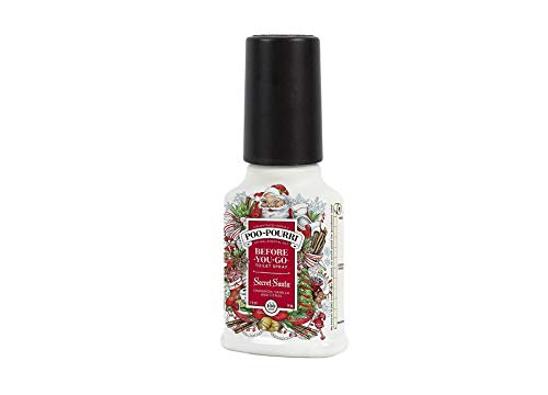 Poo-Pourri Secret Santa Claus Christmas Bad-Spray, 60 ml, weihnachtsmann, 2 oz