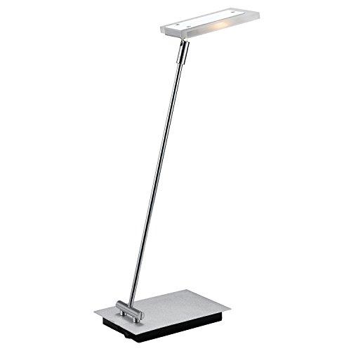 Luminária de Leitura Bella Iluminação Cromado/ Prata/ Transparente Acrilico, Aluminio e Metal
