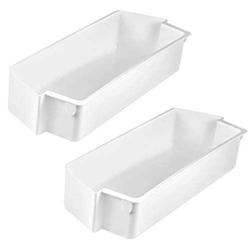 Techecook 2187172 Door Bin Shelf White (2 Pack) Compatible with whirlpool, kenmore Refrigerator Replace WP2187172, 2187172K, 2187194, PS11739091