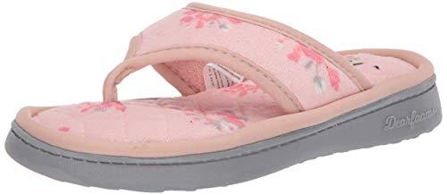 Dearfoams womens Thong Slipper, Dusty Pink, Medium US