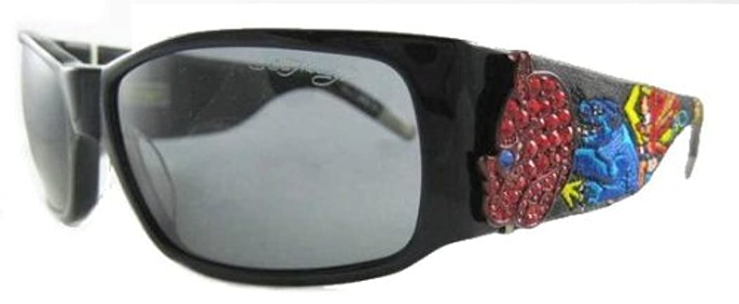 Ed Hardy EHS-036 Devil On Panther Flat Designers Sunglasses