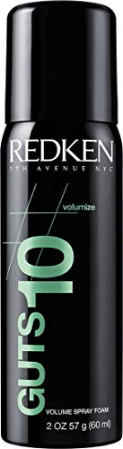 Redken Guts 10 Volume Spray Foam | For All Hair Types | Provides Body, Volume & Anti-Frizz Protection | Medium Control | 2 Oz