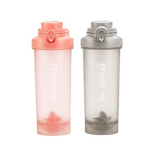 Tazza per il fitness, in polvere e frappè di latte in polvere per acqua rapida scuotere grande capacità, borraccia sportiva portatile, 700 ml (arancione)