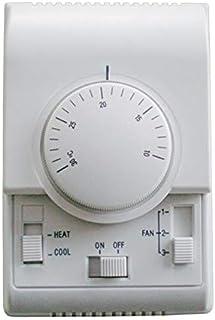 No-logo XFC-KT, Termostato de Ambiente AC220V, termostato de Fan Coil Que Funciona con Ventilador de 3 velocidades, Rango de Ajuste del termostato del regulador de Aire 10-30 Grados centígrados