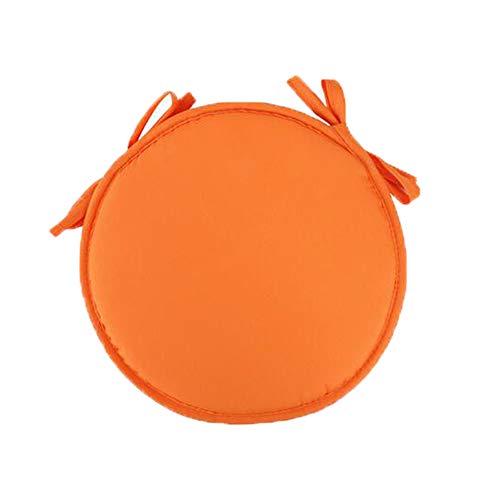 AGDLLYD Cuscino Sedia 38 * 38 * 1,8cm,Cuscini da Sedia Trapuntati,Morbido Cuscino per Sedia Cuscino Sedia Cucina da Giardino,Disponibile in Tanti Colori Diversi (Arancione)