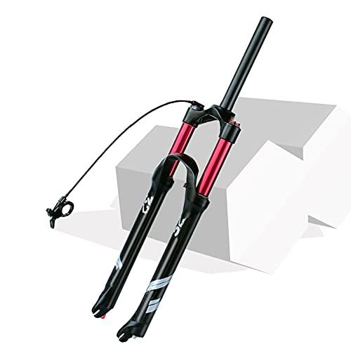 HCJGZ Horquilla De Bicicleta De Viaje De 1-1/8'140 Mm MTB, Horquilla De Suspensión Neumática De Aleación De Magnesio MTB Freno De Disco Qr 9 Mm