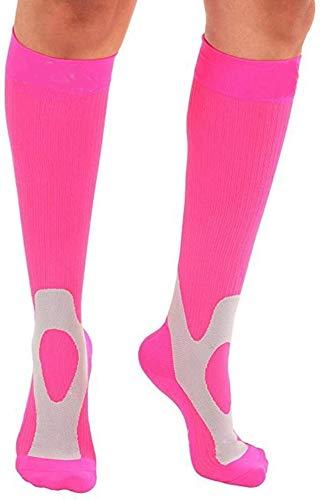 Compresión Transpirable Calcetines 3 Pares no Slip Mujeres y los Hombres - 20-30mmHg Rodilla Running Baloncesto Calcetines 1017