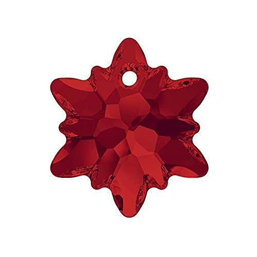 1 colgante con cristales Swarovski (6748), Light Siam, 14 mm (SwAROVSKI CRYSTALS durante - Edelweiss (6748), Light Siam)
