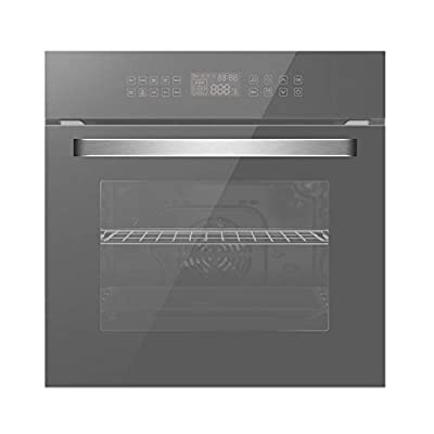 """Empava 24"""" 10 Cooking Functions W/Rotisserie Electric LED Digital Display Touch Control Built-in Convection Single Wall Oven, WOC17"""