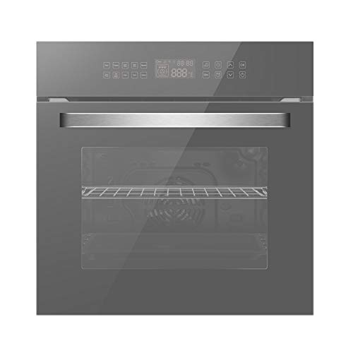 "Empava 24"" 10 Cooking Functions W/Rotisserie Electric LED Digital Display Touch Control Built-in Convection Single Wall Oven, WOC17"