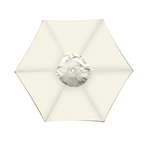 Haihuic Housse de Rechange pour Easy, Umbrella Canopy Cover Parasol Umbrella Cover Protective 2 mètres 6 os Oxford Cloth Waterproof Wind-Resistance Beige