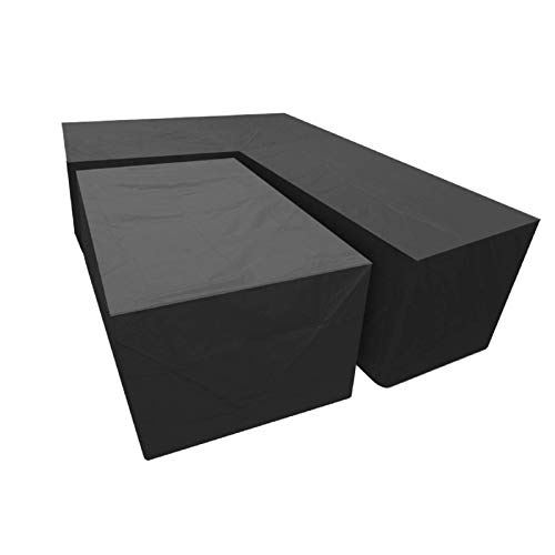 N\C Funda para sofá al Aire Libre 215X215X98X68cm + 155X95X68cm Fundas para Comedor al Aire Libre a Prueba de Polvo para Patio Impermeable