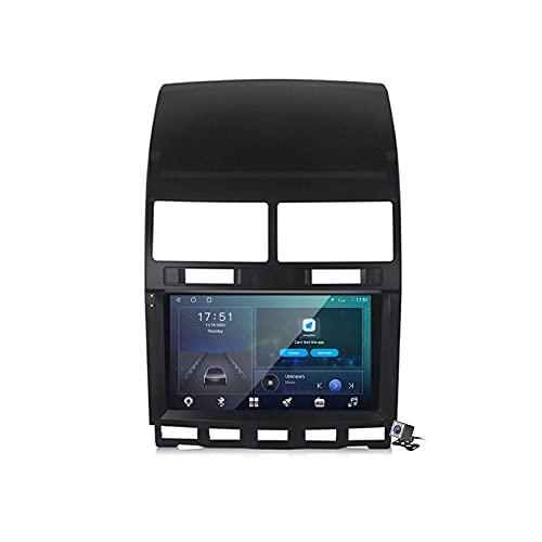 Buladala Android 10 Autoradio 2 DIN Car Stereo Coche GPS Navegacion para VW Touareg 2002-2010 Soporte Carplay Android Auto/Multimedia FM RDS DSP/Control Volante/Hands-Free Calls,M600