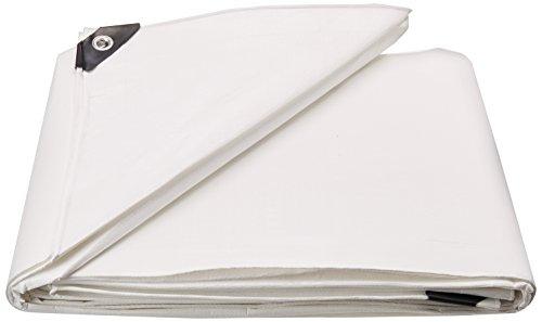 10X12 Multi-Purpose White Heavy Duty DRY TOP Poly Tarp (10'x12')