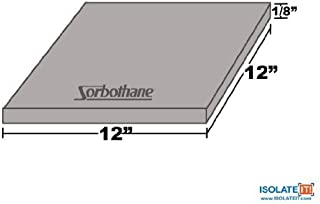 Isolate It!: Sorbothane Vibration Damping Sheet Stock 50 Duro (1/8 x 12 x 12in)