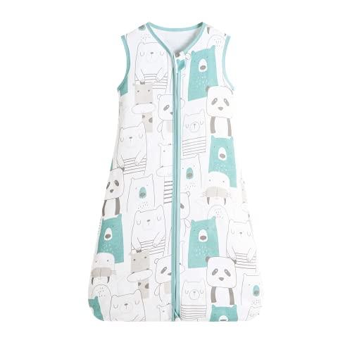 Taotigzu 0.5 Tog Sommerschlafsack Baby 100% Baumwolle Unisex ohne Ärmel Baby Schlafsack (S, Panda)