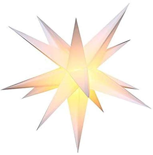 Luces de estrella de iluminación de alienígenas, luces de decoración navideña, no requiere transformador. 55 cm de estrella plegable luminosa con explosión de Navidad