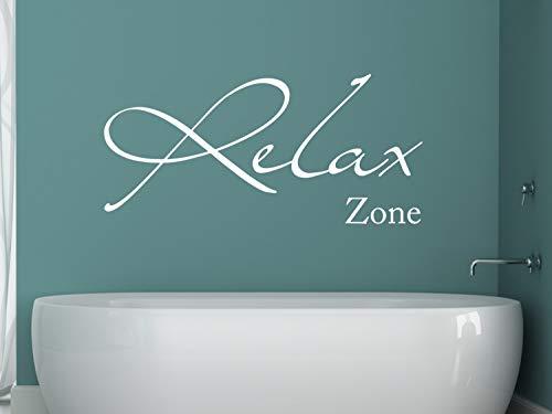 GRAZDesign Fliesen überkleben Relax Zone - Deko Badezimmer Türaufkleber - Wandtattoo Wohnzimmer/Schlafzimmer/Wellness / 106x50cm / 650081_50_071
