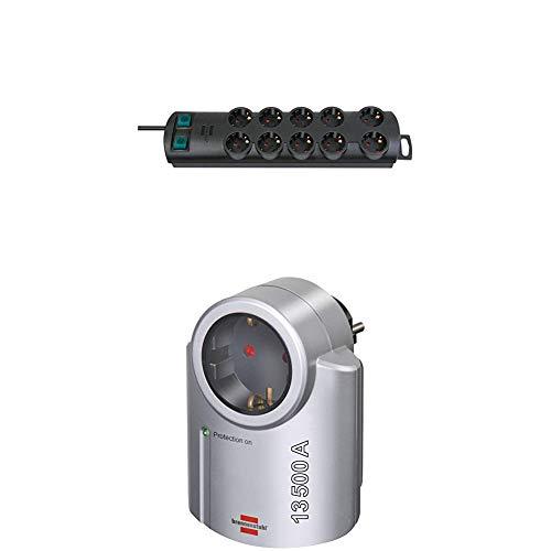 Brennenstuhl Primera-Line Steckdosenadapter mit Überspannungsschutz und Primera-Line, Steckdosenleiste 10-fach