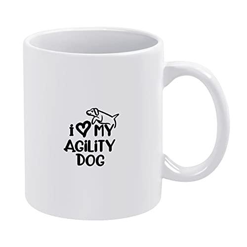 Ik hou van mijn behendigheid hond grappige premium keramische mok koffiemok voor vrouwen mannen volwassenen kinderen vrienden kantoor cadeau mok Cup 11 oz