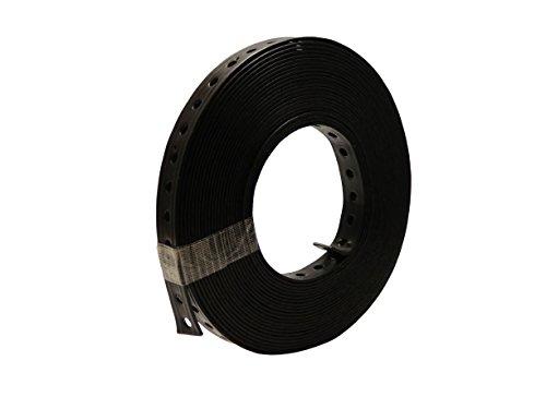 Montagelochband, Lochband 19mm x 10m, kunststoffummantelt, schwarz