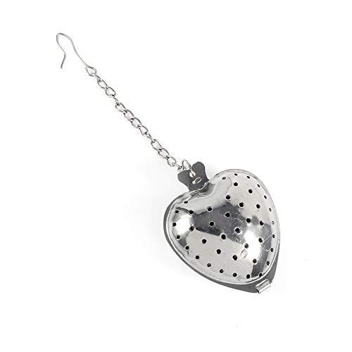 LANTRO JS - Cadena de corazón de amor, infusor de té...