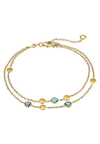 CHRIST Gold Damen-Armband 375er Gelbgold 3 Topas One Size 87482154
