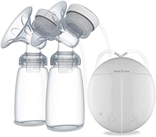 Real Bubee Double Electric Manual Breast Pump USB Baby Breast Feeding Hands Free