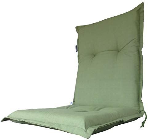 """Madison 8 cm Luxus Niederlehner Auflage A 044\"""", Uni grün, 105 x 50 x 8 cm"""