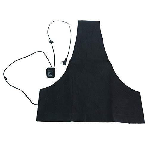 Yiwa Wasbare USB-verwarming, elektrisch vest met 3 snelheden, doe-het-zelf thermische pads voor jack verwarmd buitenshuis, kleding, snelheid warm