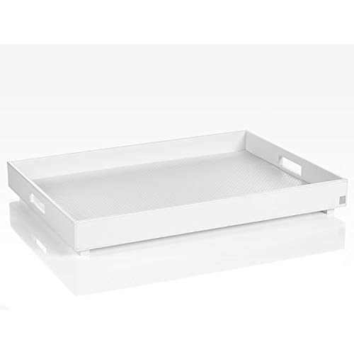 JOOP! HOMELINE, Tablett XL für Beistelltisch mit klappbarem Untergestell, Weiss