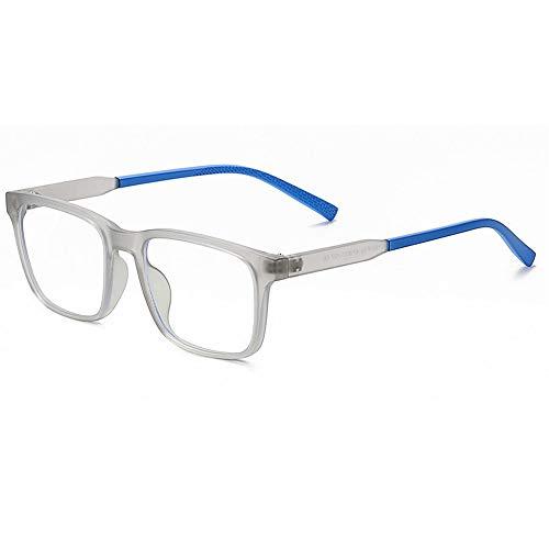 Kids Blue Light Blocking Glasses, Computer Gaming TV Glasses for Boys Girls Age 7-12Anti Glare & Eyestrain (Grey)