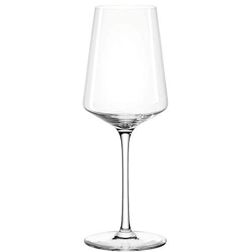 Leonardo Puccini Riesling-Gläser, 6er Set, spülmaschinenfeste Wein-Gläser, Weißwein-Kelch mit gezogenem Stiel, Weingläser Set, 400 ml, 069540