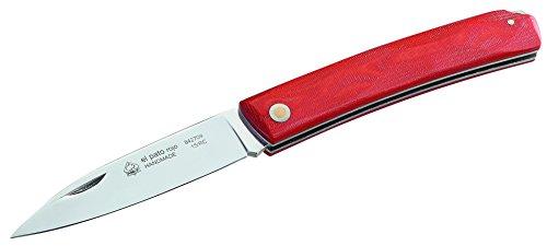 Puma IP Stahl 1.4116, 58 Hrc, Rote Micarta-Griffschalen Taschenmesser