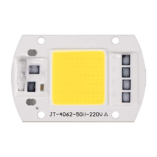 Donpow LED COB Chip, perlas 220V 100W Blanco frío COB Chip Smart IC Driver Lámpara DIY Focos Floodlight COB Integración Lámpara (White, 1 Pack)