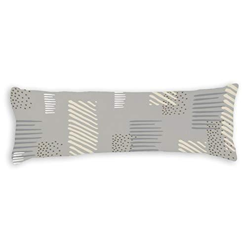 CiciDI ZZH200306GPC33 - Federa per cuscino con motivo astratto, motivo a onda, traspirante, 40 x 145 cm, in cotone e poliestere, federa lunga per cuscino