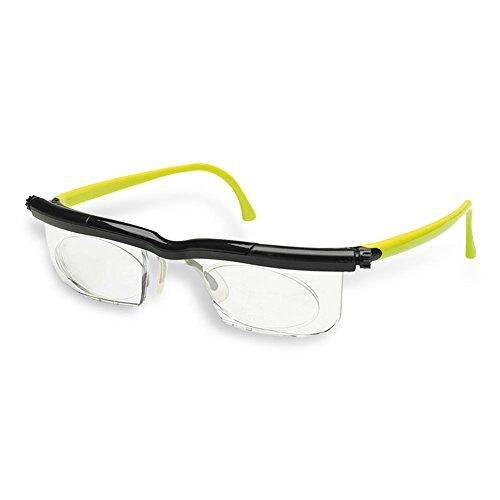 HC Handel 936186 Adlens-Brille mit individuell einstellbaren Gläsern von -6 bis +3 Dioptrien - grün