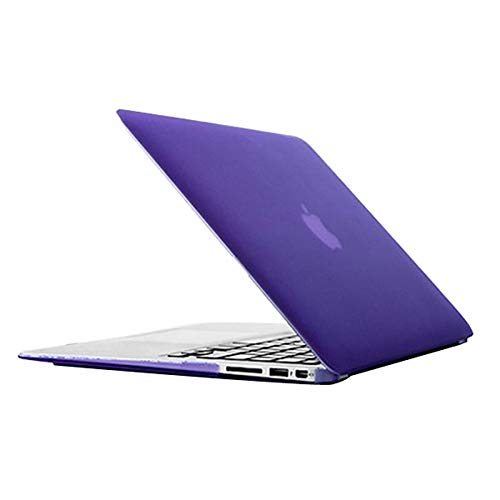 Hanks' shop Protective Case For MacBook Air 13.3 Inch A1466 (2012-2017) / A1369 (2010-2012),Laptop Frosted Hard Plastic (Color : Purple)