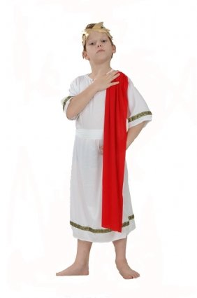D/UP CHILD ROMAN EMPEROR RED SMALL 4-6 YRS