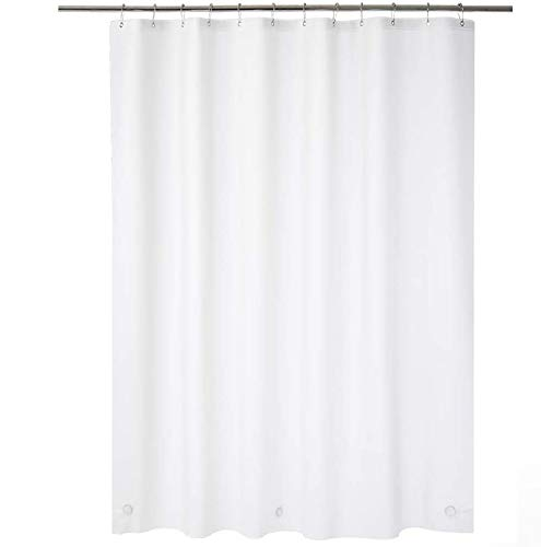 AmazerBath Plastic Shower Curtain, 72 x 78 Inches EVA 8G Shower Curtain with Heavy Duty Clear Stones and Grommet Holes, Waterproof Thick Bathroom Plastic Shower Curtains-Frosted