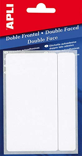APLI 2562-Etiquetas doble frontal blancas 8,0 x 12,0 mm