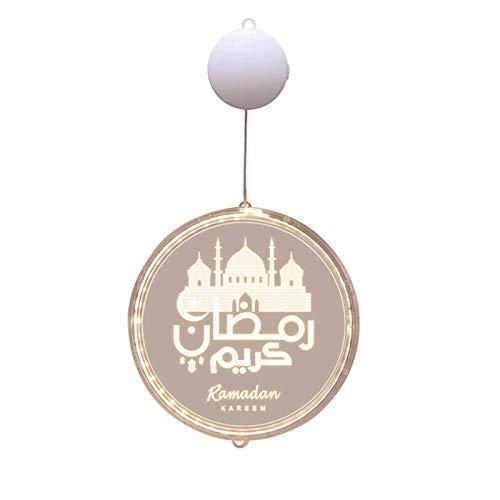 Binghai 3D Burg Raumdekoration Lampe Ramadan Festival Dekorative Laternen für Haus Garten Dekoration
