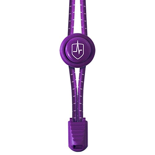 High Pulse® Schnellschnürsystem (1 Paar) – Der elastische Schnürsenkel mit Schnellverschluss für einen perfekten Sitz und sicheren Halt (Violett)