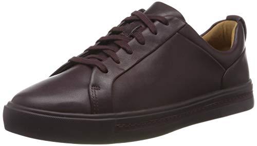 Clarks Damen Un Maui Lace Sneaker, Braun (Aubergine Lea Aubergine Lea), 38 EU