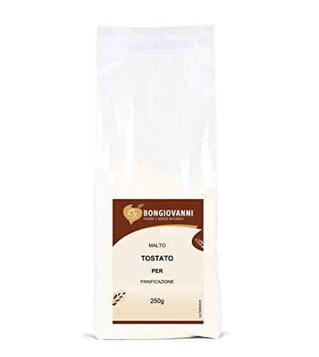 BONGIOVANNI FARINE e BONTA  NATURALI Malto Tostato per Panificazione - Formato da G, 250 grammi